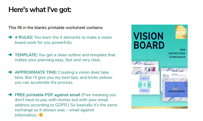 graphic regarding Printable Vision Board Template titled Element listing unintentially coloured - Guidance - Apex Discussion board