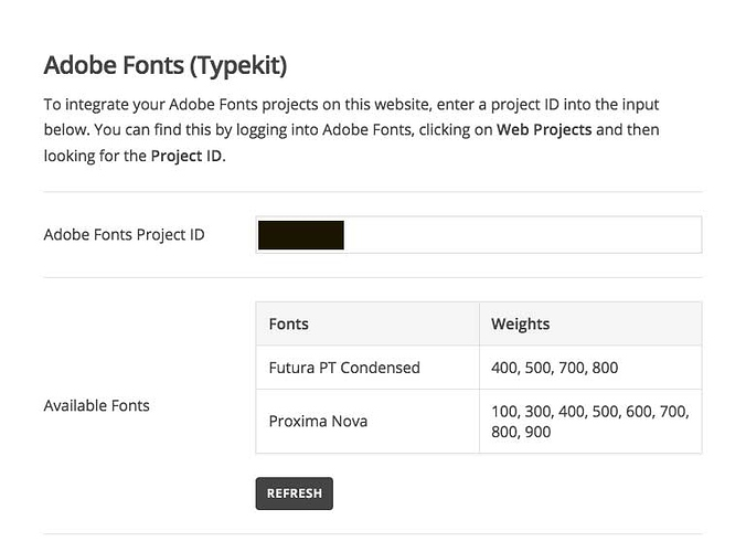 Adobe Typekit Fonts not showing on external devices - Support - Apex