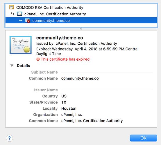 SSL Certificate Problem: certificate has expired - Support - Apex Forum