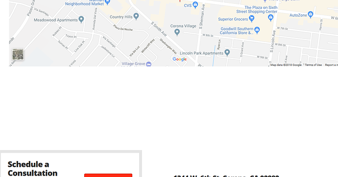 corona california map google