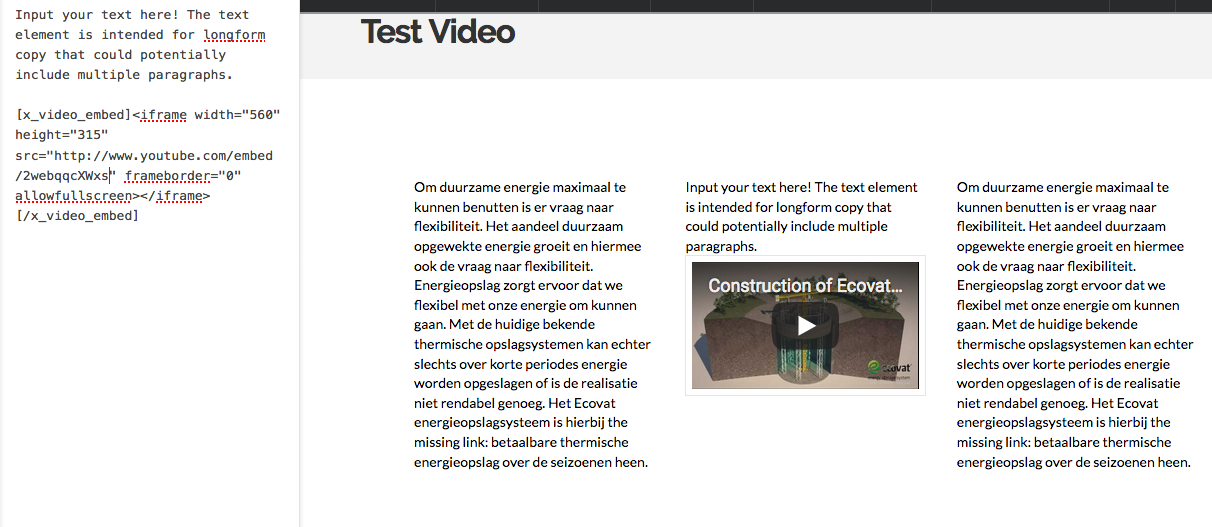 Youtube embedded video resizing, mobile and responsive