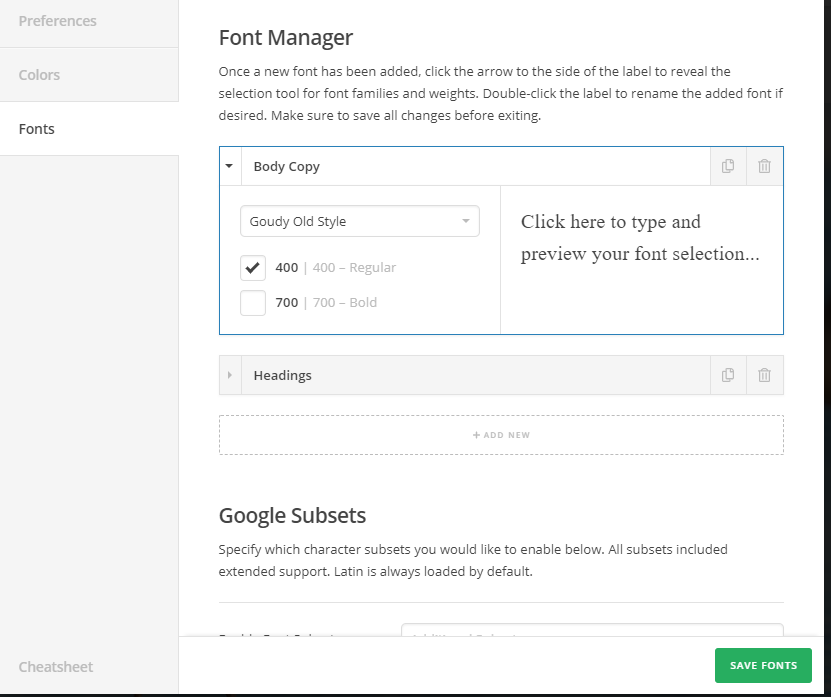 Categories and feature lists fonts - Support - Apex Forum