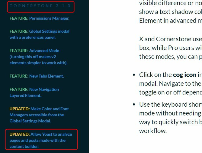 Post Articles should be in cornerstone or simple editor of wordpress