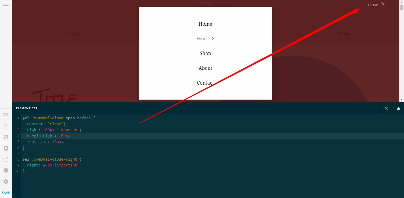 Navigation Modal - 'Text Close? - Support - Apex Forum