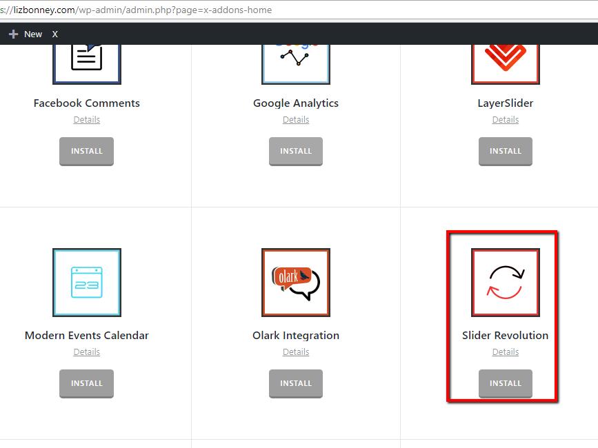 Slider revolution not showing on dashboard - Support - Apex Forum