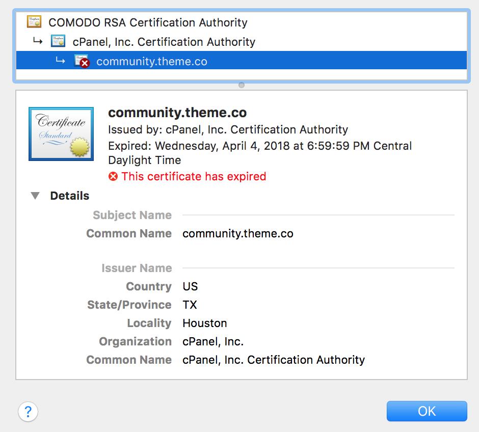 SSL Certificate Problem: Certificate Has Expired