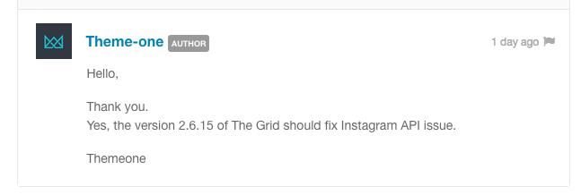 Instagram API Issue - The Grid - Support - Apex Forum