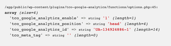 Solution for Undefined index: tco_google_analytics_code