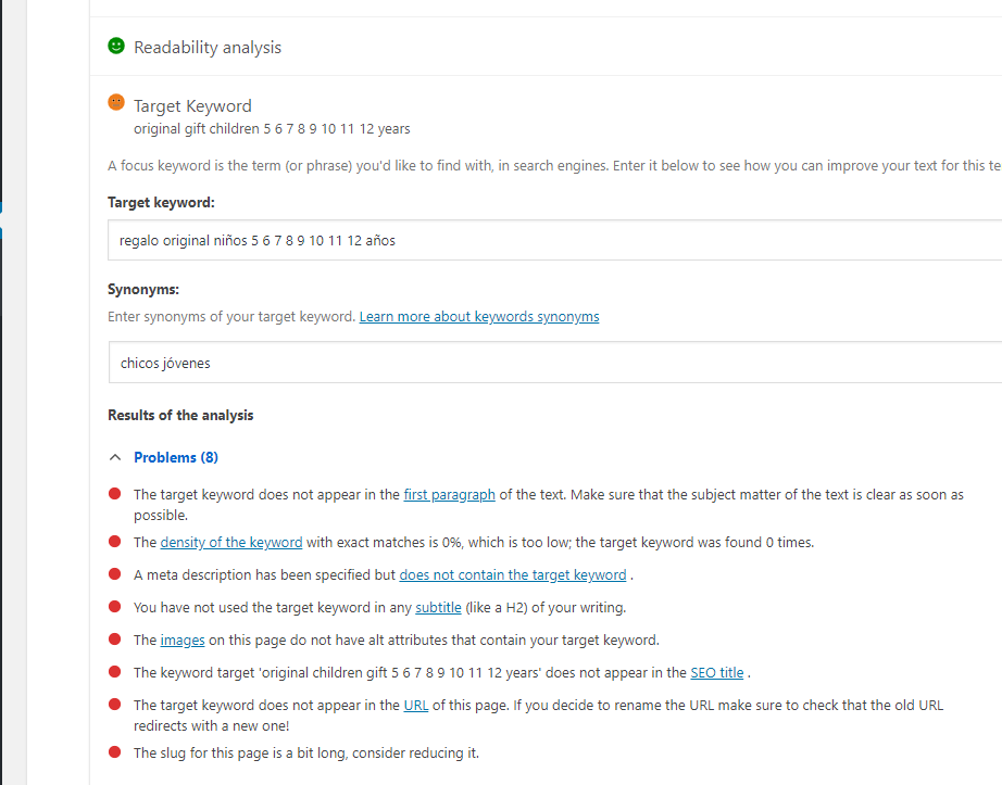 Yoast SEO stopped working (on a page without classic elements