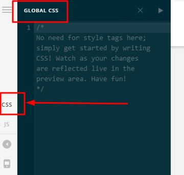 Global CSS code for adjusting font size based on screen size