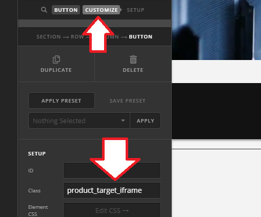 Connecting button link to product variations in WooCommerce product