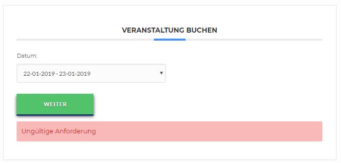 Modern events calendar - booking system error - Support